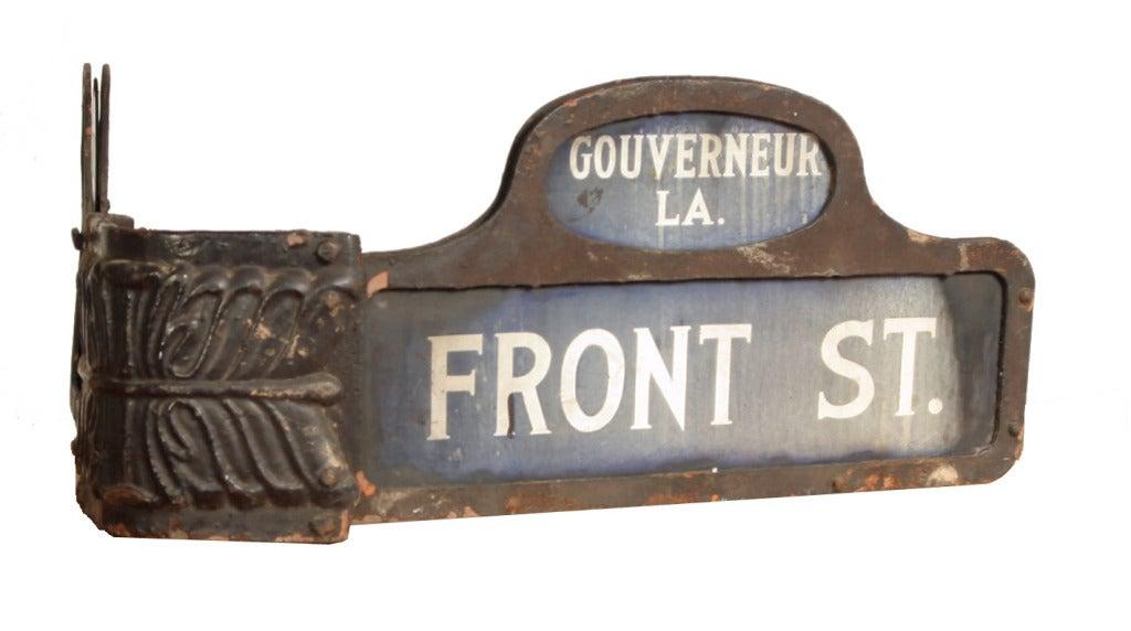 19th Century Lower Manhattan Corner Street Sign At 1stdibs