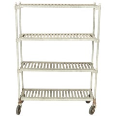 Vintage Industrial Galvanized Steel Shelves