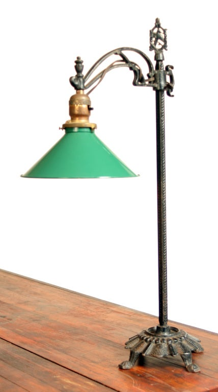 Vintage Industrial Cast Iron Table Lamp At 1stdibs