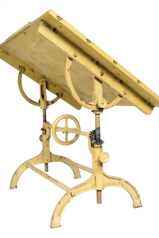 Vintage Industrial Architect S Drafting Table At 1stdibs
