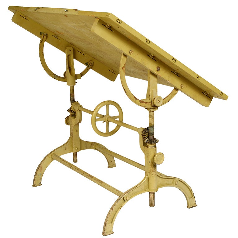 Vintage Industrial Architectu0027s Drafting Table 1