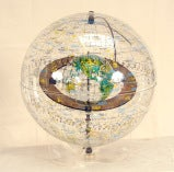 Transparent World Globe by Robert Farquhar 1970s thumbnail 2