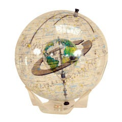 Transparent World Globe by Robert Farquhar 1970s thumbnail 1