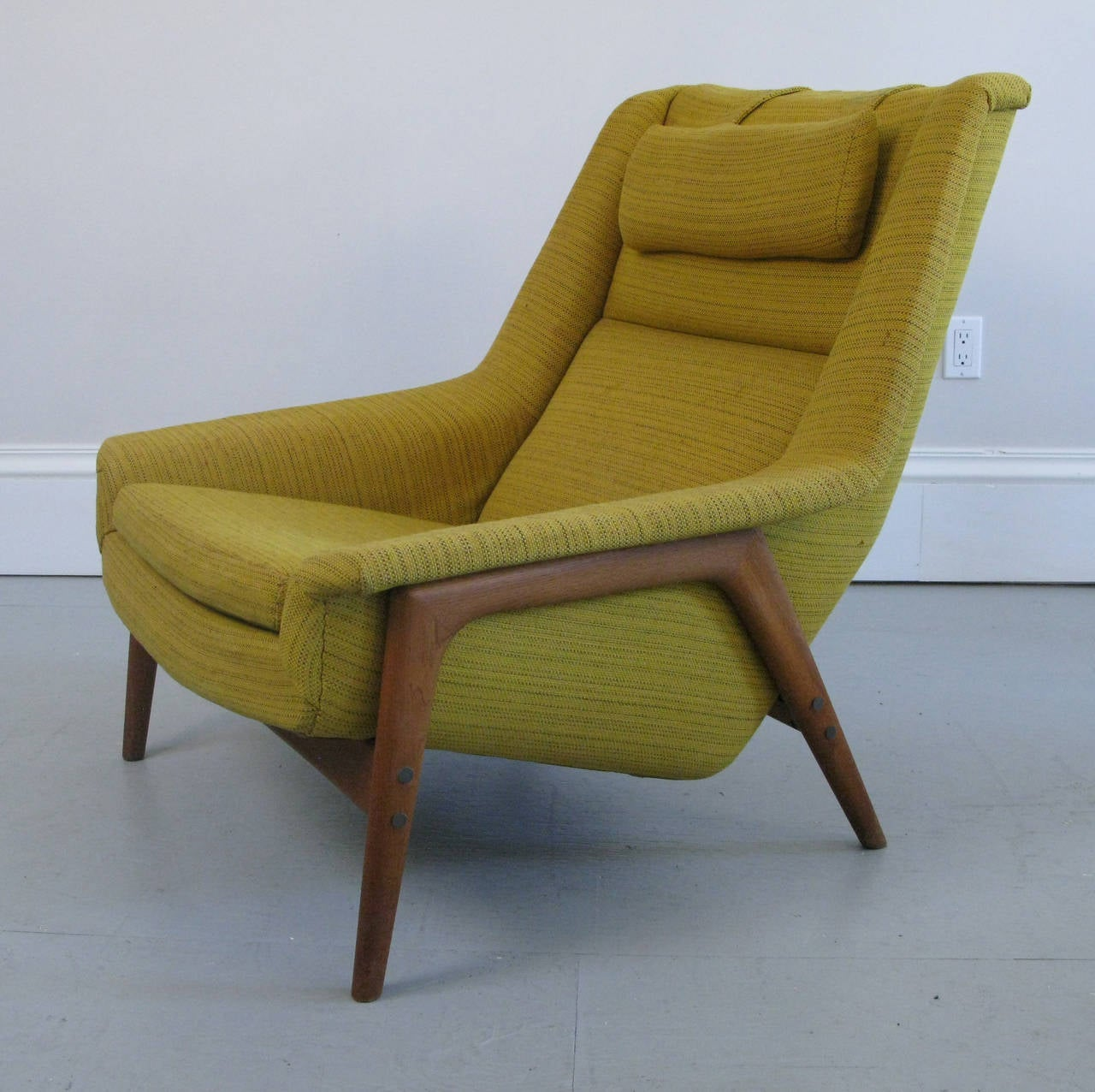 mid century swedish lounge chair and ottoman with dux label at 1stdibs. Black Bedroom Furniture Sets. Home Design Ideas