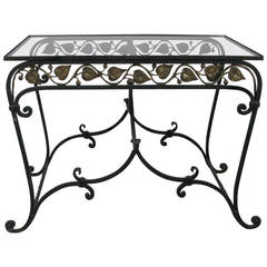 1950s Wrought Iron Garden Occasional Table