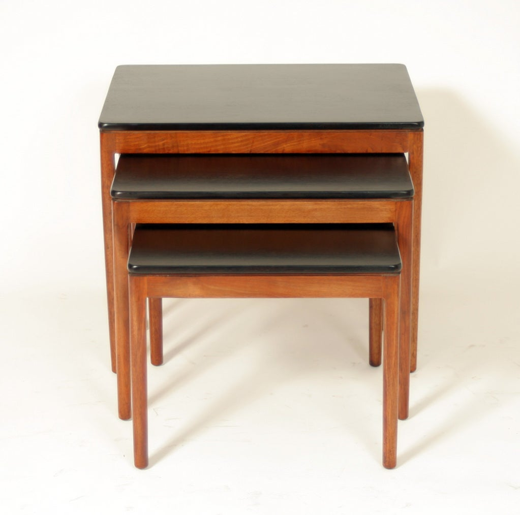 Contemporary Nesting Tables ~ Set of three modern nesting tables at stdibs