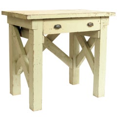 One Drawer Industrial Wood Work Table