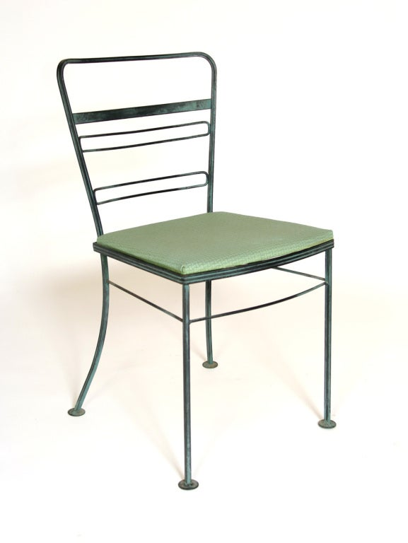 Mid Century Iron Patio Chairs: Mid Century Iron Patio/Garden Table And Four Chairs At 1stdibs