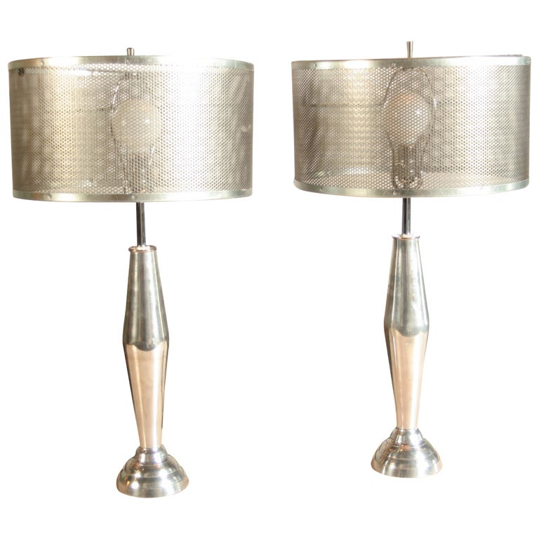 of custom cast aluminum and steel mesh lamps is no longer available. Black Bedroom Furniture Sets. Home Design Ideas