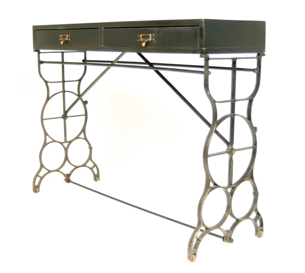 Industrial Console Sofa Table At 1stdibs