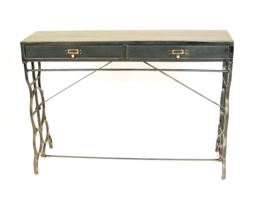 Industrial console sofa table at 1stdibs for Sofa industrial
