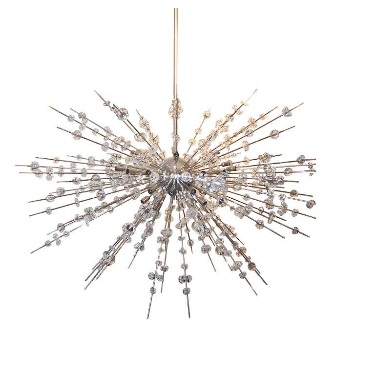 Austrian vintage sputnik chandelier at 1stdibs for Sputnik chandelier