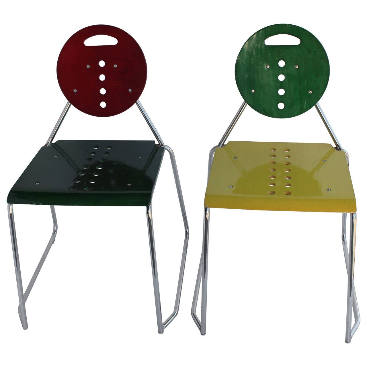 1980s memphis style italian charlie chairs by bimbi for 1980s chair design