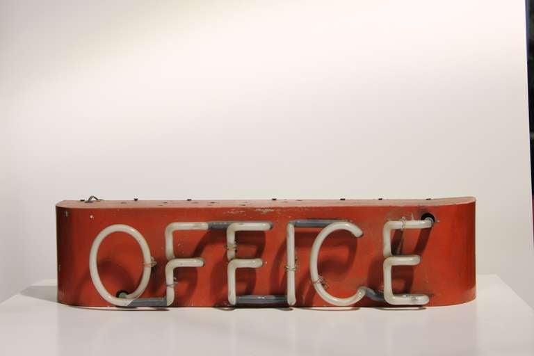 1930's Neon Sign Office 2