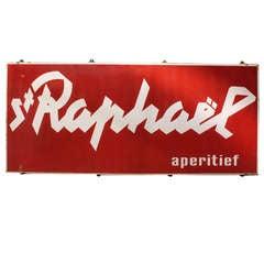 Large 1960's Original Enamel Sign St. Raphael Aperitief