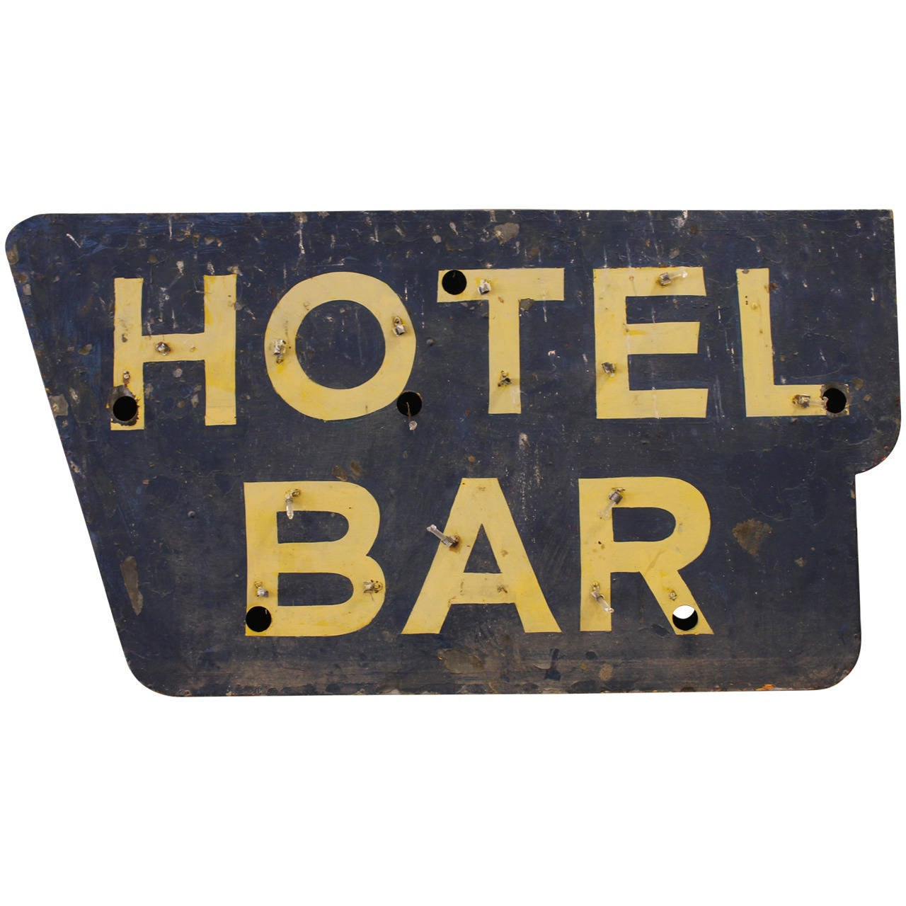 Vintage Quot Hotel Bar Quot Sign At 1stdibs