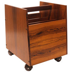 Mid-Century Rosewood Magazine Holder by Rolf Hesland for Bruksbo