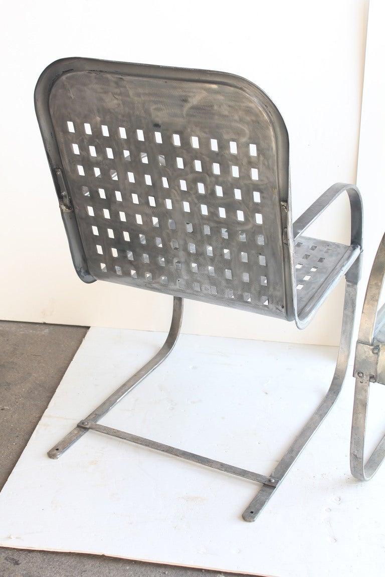Vintage Gargen Metal Lounge Chairs at 1stdibs
