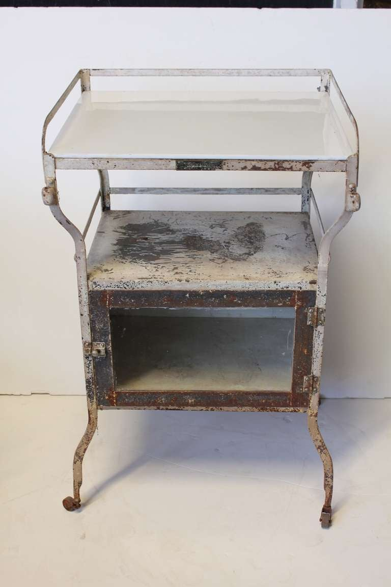 Industrial Bar Cabinet Industrial Medical Cabinet Bar Cart For Sale At 1stdibs
