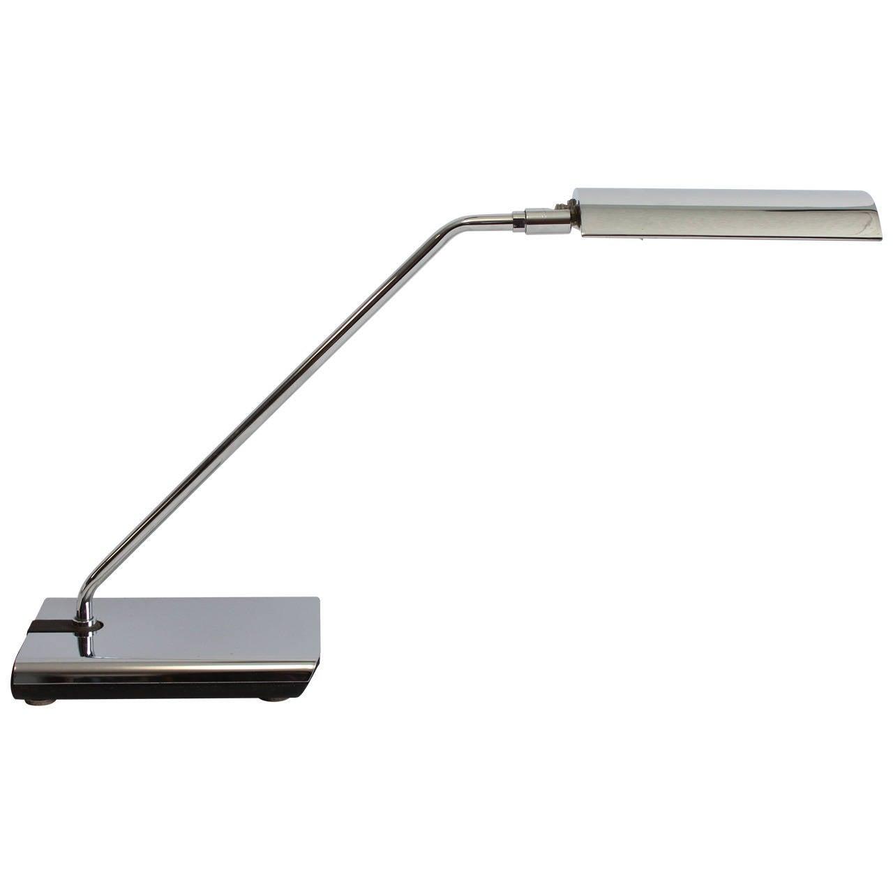 Stylish 1970s Chrome Desk Lamp by Koch & Lowy