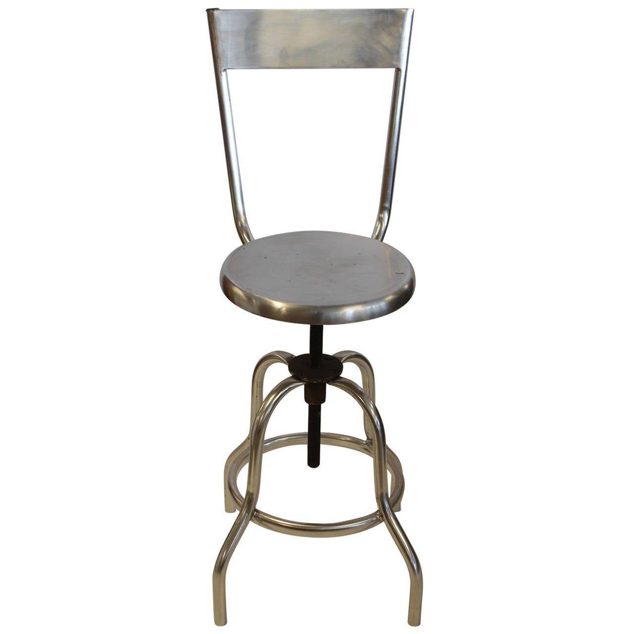 Vintage Industrial Swivel Adjustable Stool For Sale At 1stdibs