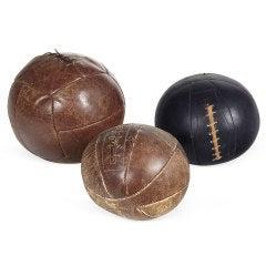 Vintage Leather Medicine Balls