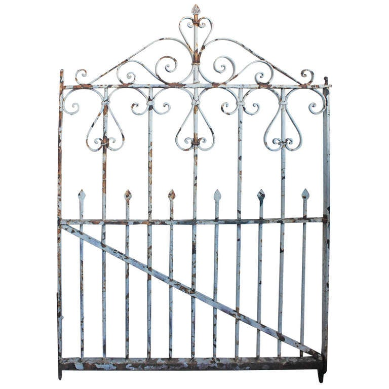 Antique Wrought Iron Garden Gate For Sale