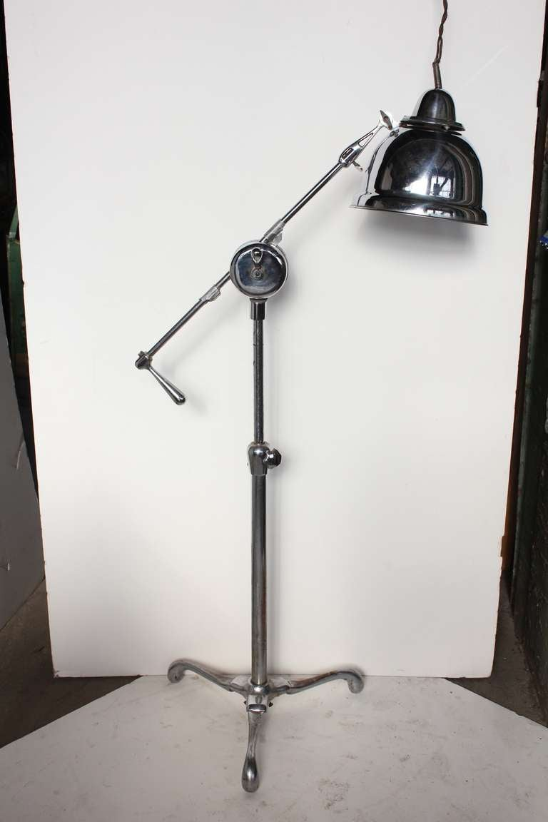 Original American Industrial Floor Lamp For Sale At 1stdibs