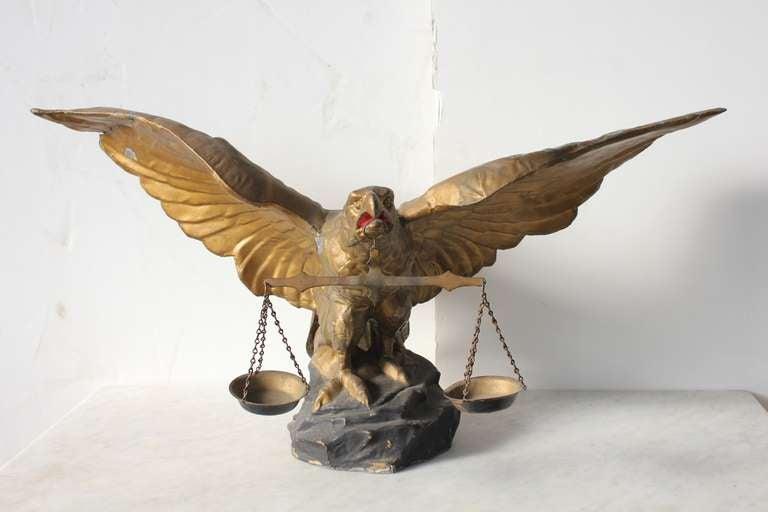 Large Antique American Zinc Eagle Figurine At 1stdibs