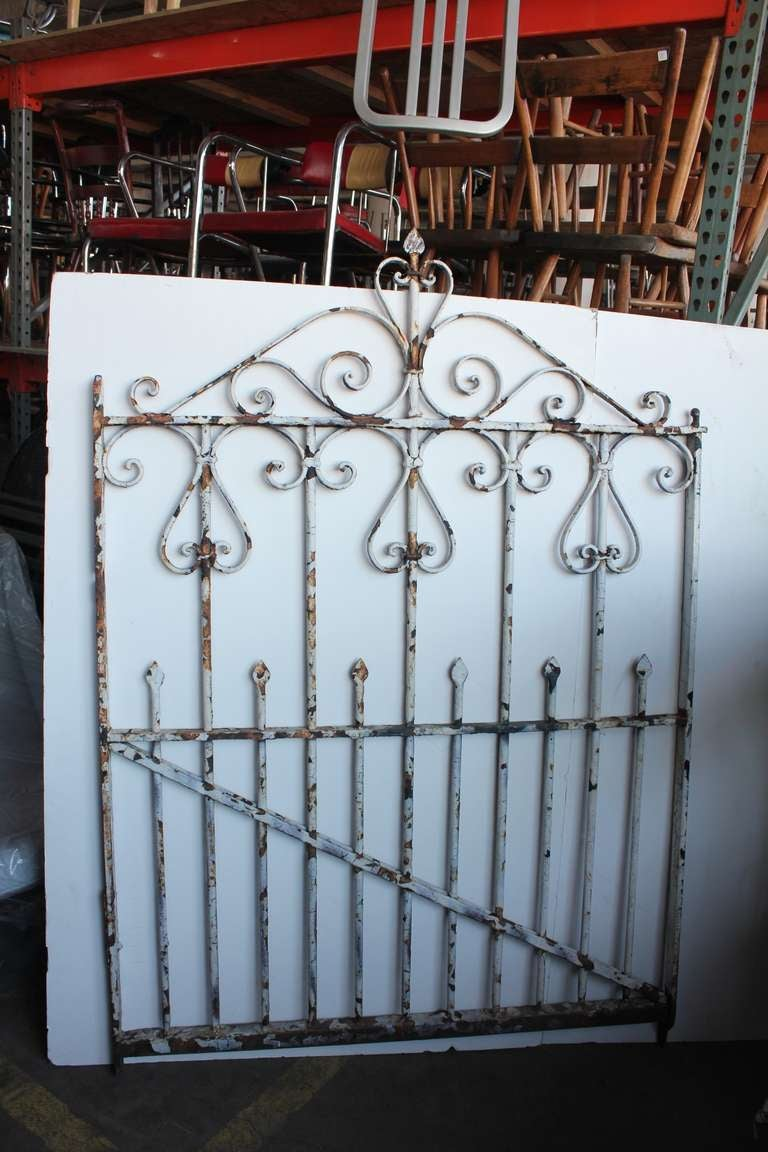 Antique Wrought Iron Garden Gate At 1stdibs