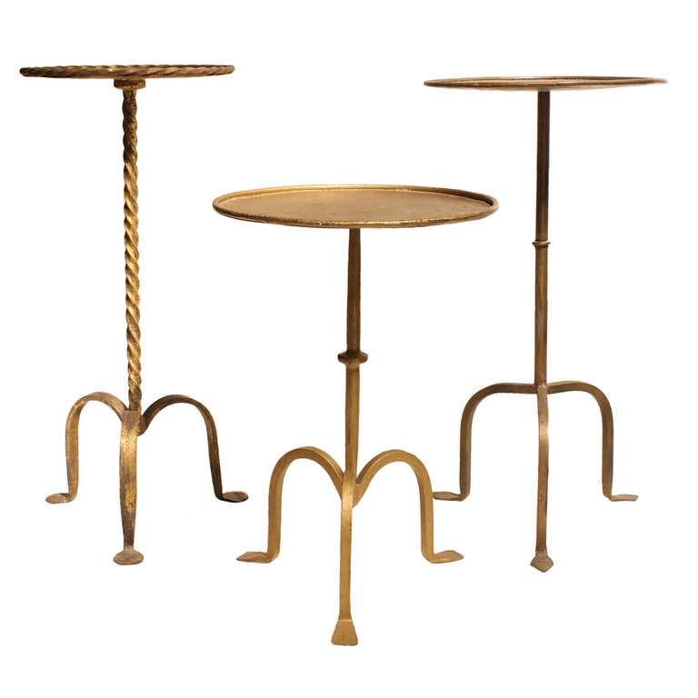 collection of 1940 39 s martini gilded hand forged tables at 1stdibs