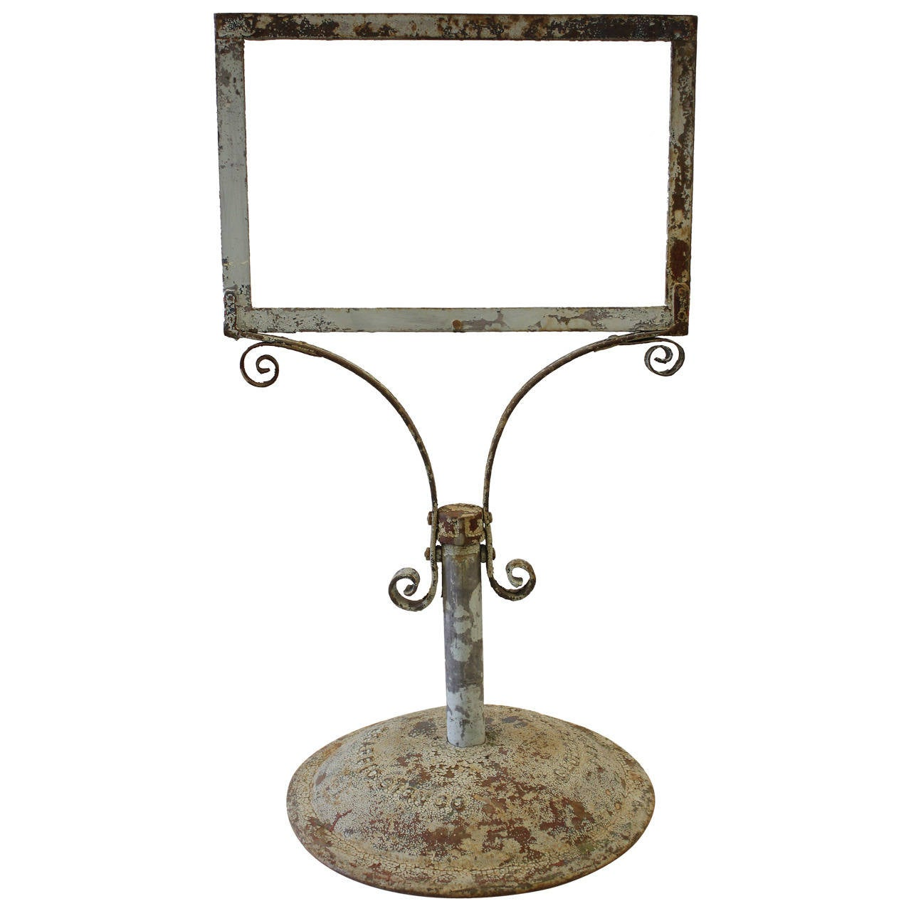 Large Antique Cast Iron Sign Stand