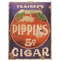 1930's Enamel Advertising Cigar Sign