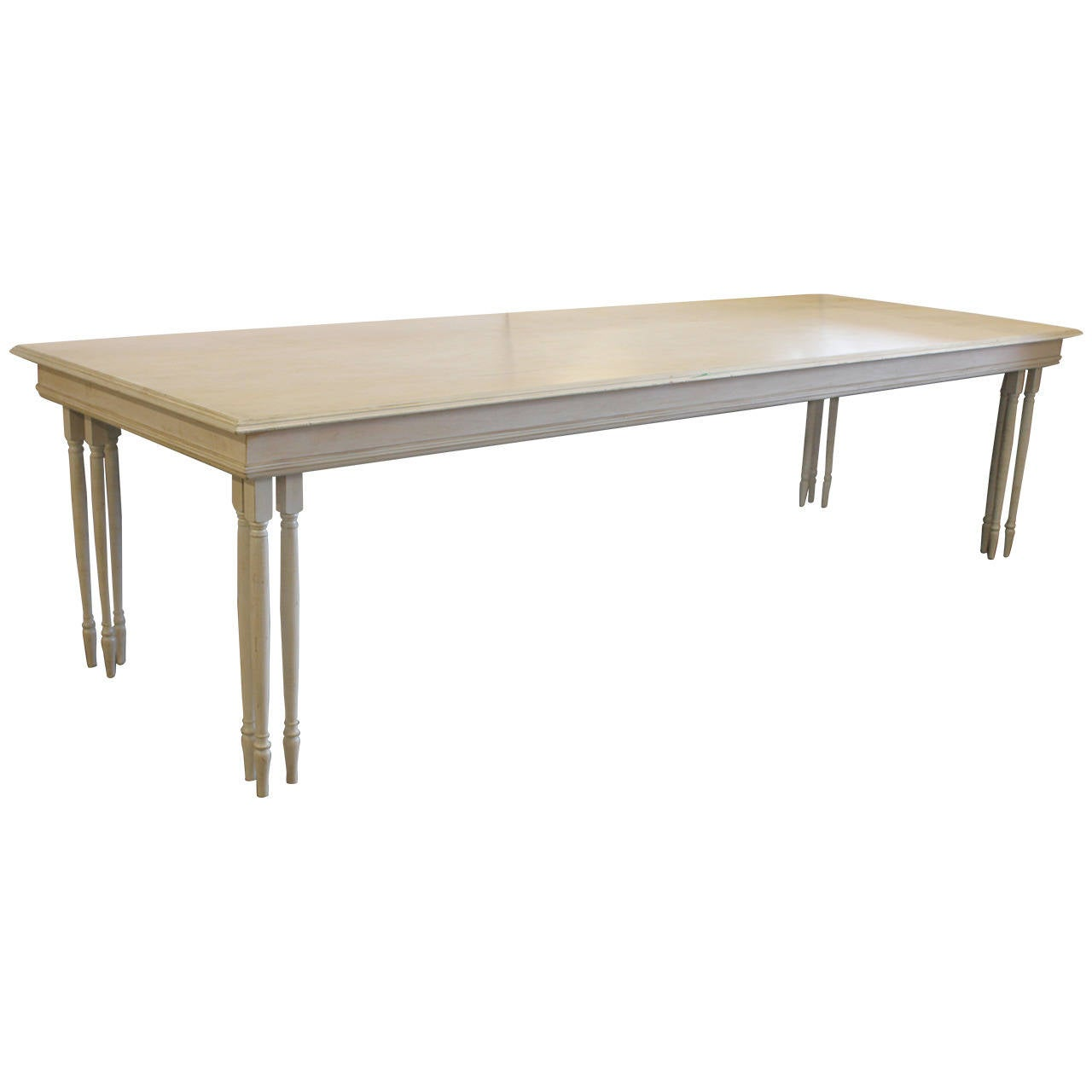 Long Custom Made Wood Table For Sale At 1stdibs