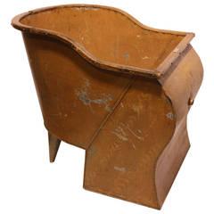 Antique American Tin Sit Bathtub