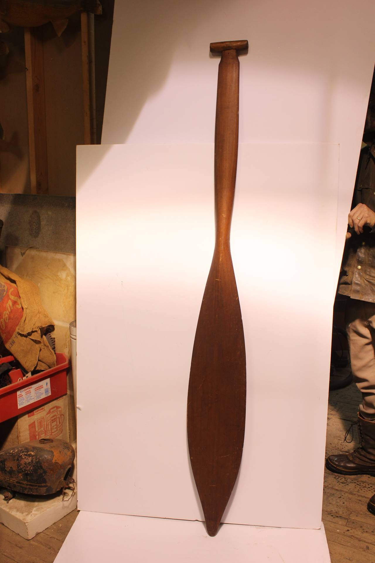 Large Antique Northwest Native American Wood Paddle For