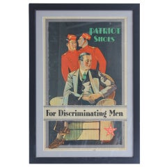 "Art Deco Advertising Poster  "" Patriot Shoes For Discriminating Men"""