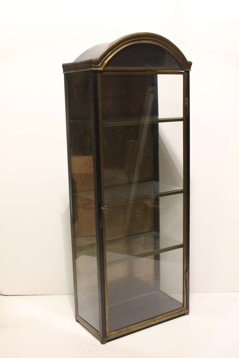 Vintage Italian Brass Curio Cabinet at 1stdibs