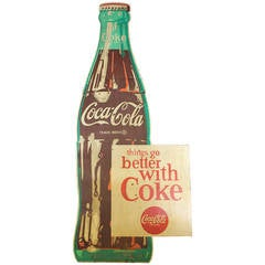 1950s Wood Coca Cola Sign