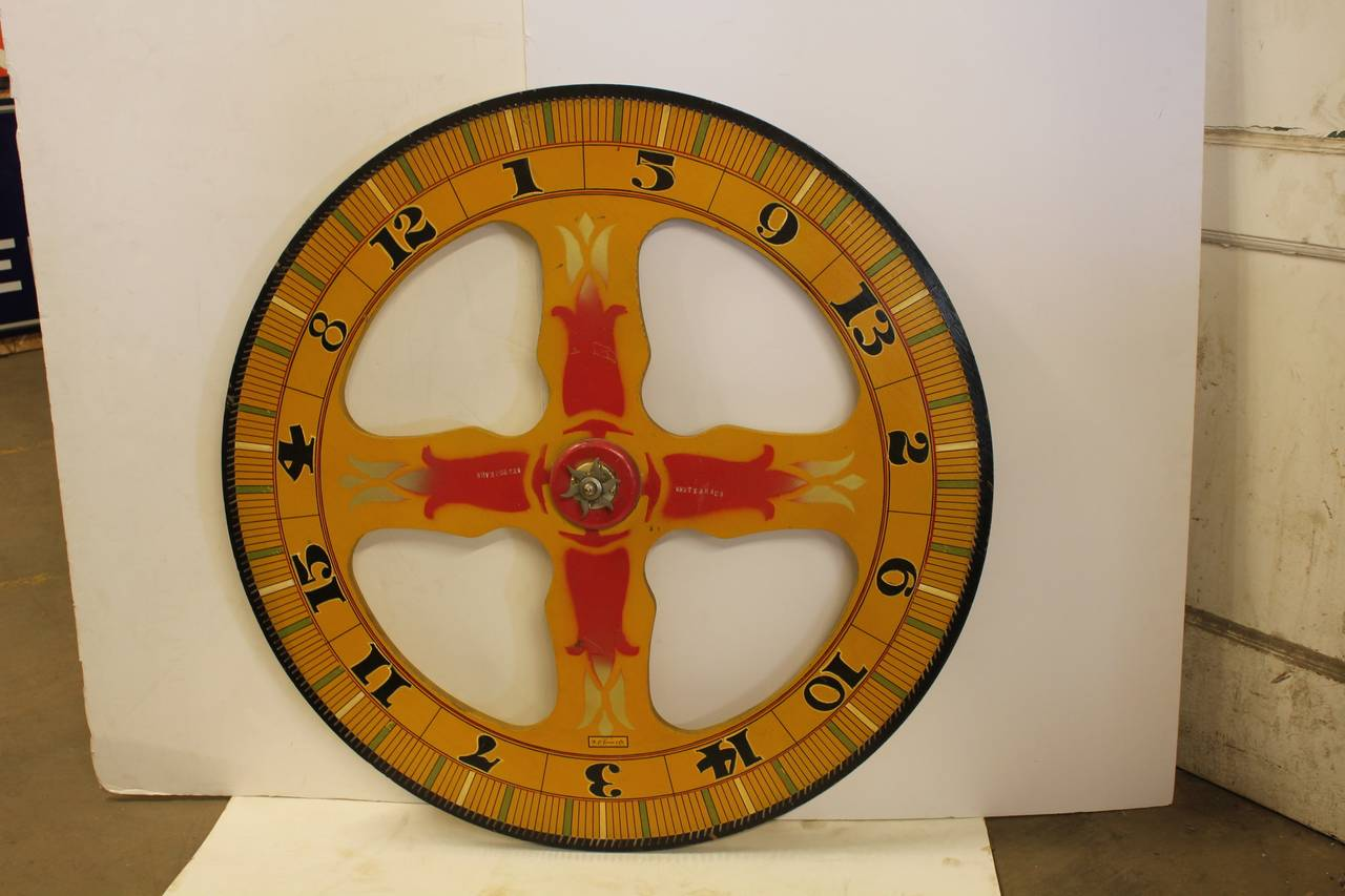 Large 1930s Game Wheel by Evans Company 2