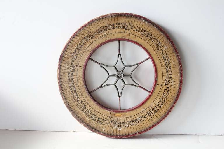 Folk Art Antique Game Wheel by State Novelty Company For Sale