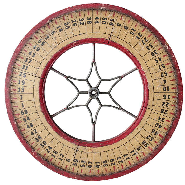 Antique Game Wheel by State Novelty Company For Sale