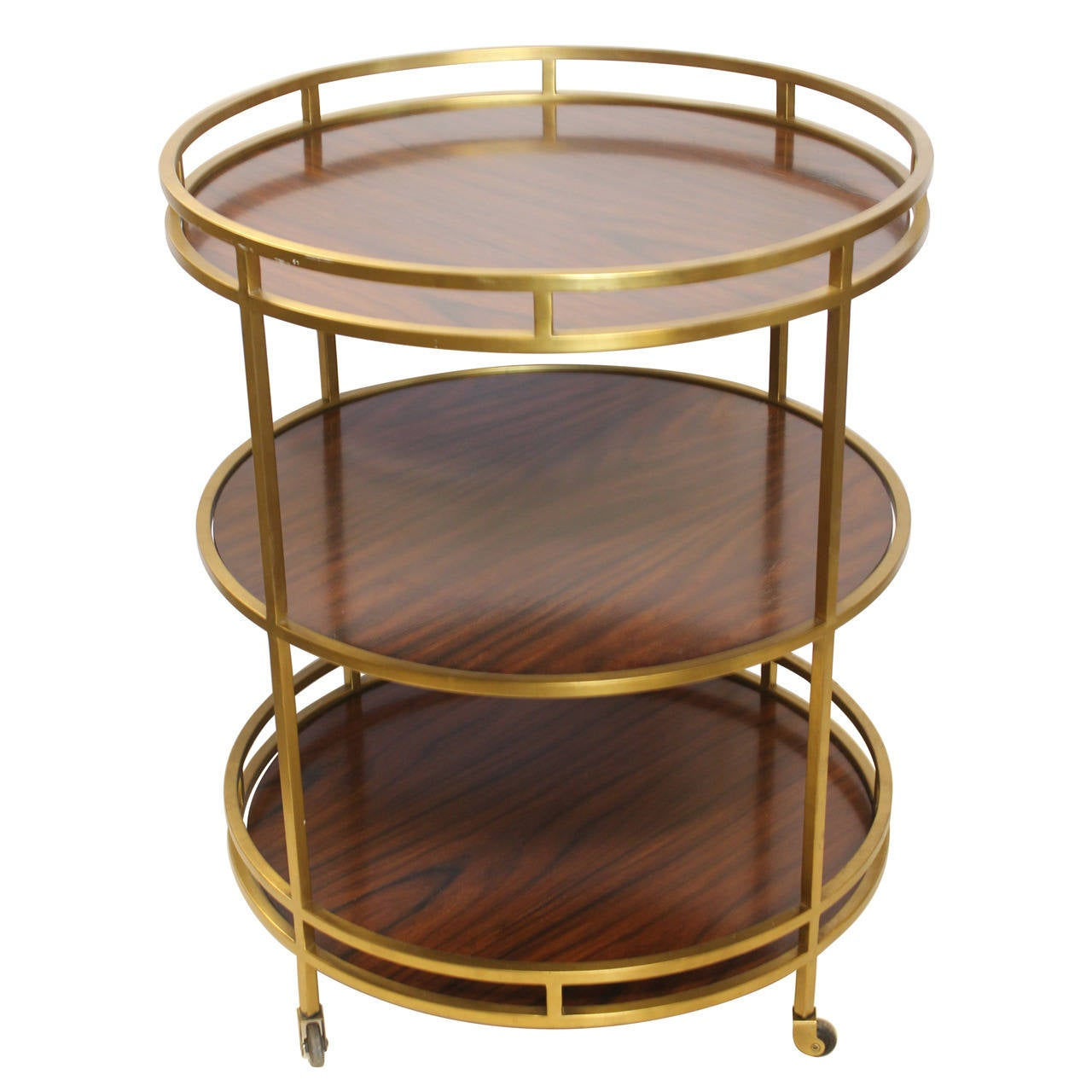 Modern Three Tier Bar Cart By Henredon At 1stdibs