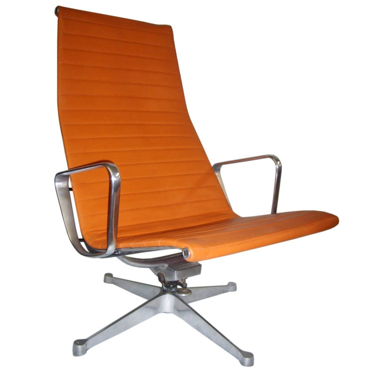 Eames for herman miller aluminum high back lounge chair at 1stdibs - Herman miller chair eames ...