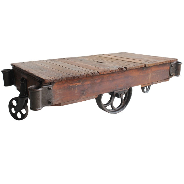 Antique Industrial Cart Coffee Table: American Industrial Cart Coffee Table, 20 Available At 1stdibs