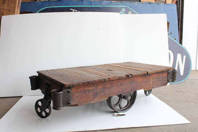 american industrial cart coffee table  20 available at 1stdibs