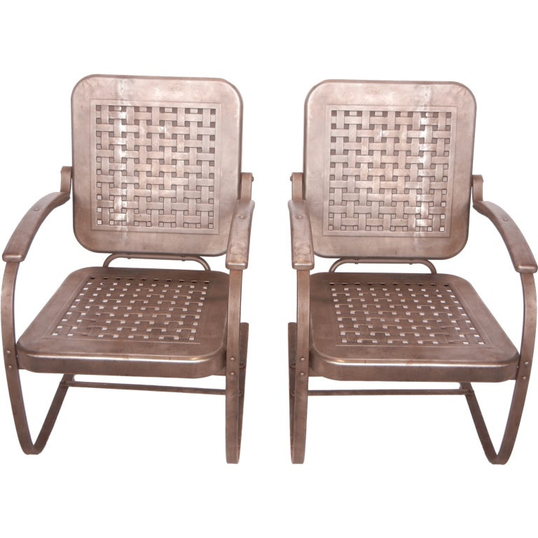 1950 39 S Stamp Sheet Metal Chairs At 1stdibs