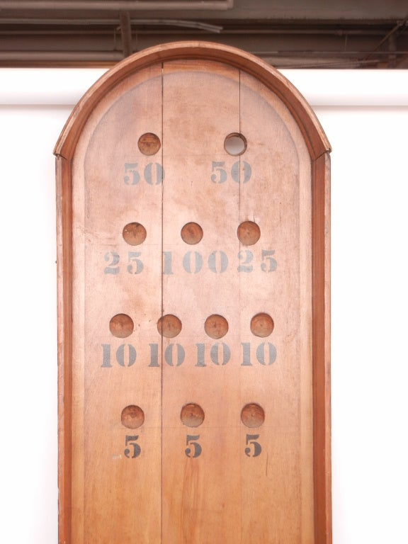 Large 19th Century English Wooden Bagatelle Board For Sale