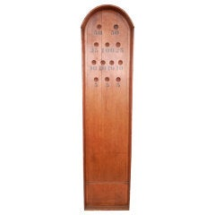 Large 19th Century English wooden Bagatelle board