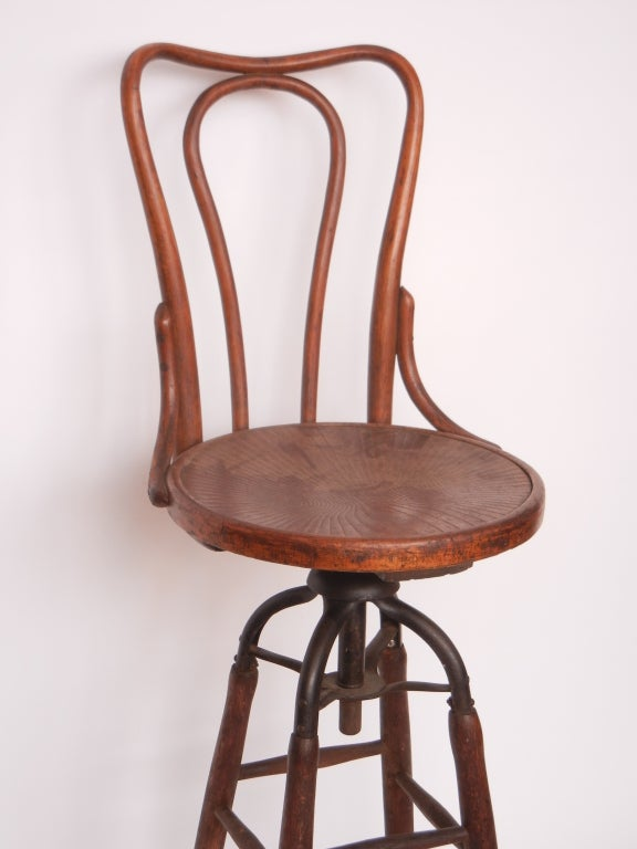 Late 1800 S American Very Unique Drafting Swivel Chair At